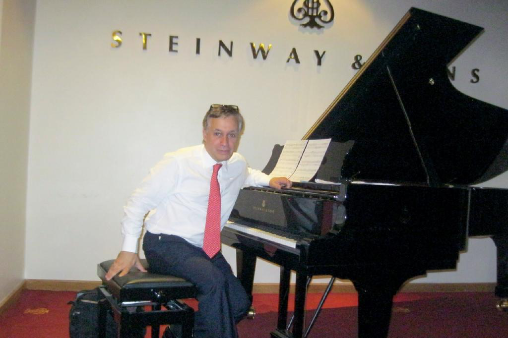 Bob at the home of Steinway