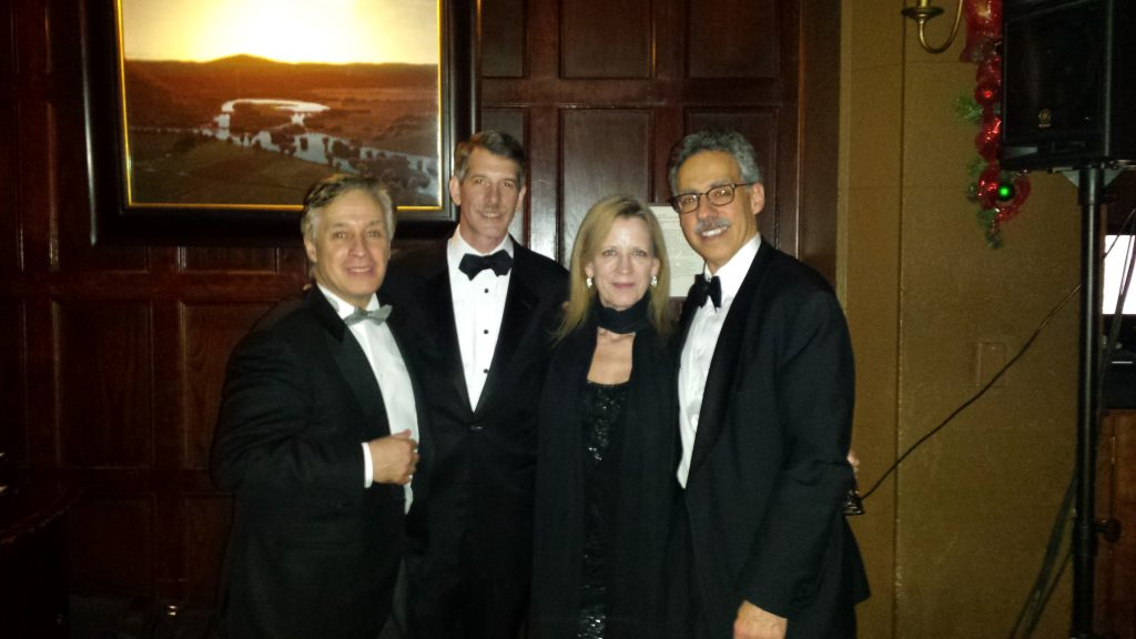 Bob Dawson with quartet at the Harvard Club 2016